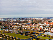 Nederland, Noord-Holland, Gemeente Uithoorn, 20-02-2012; Uithoorn, aan de horizon Aalsmeer, Schiphol en Amstelveen. De Amstel midden in beeld..City of Uithoorn, airport Schiphol at the horizon, the river Amstel(m)..luchtfoto (toeslag), aerial photo (additional fee required);.copyright foto/photo Siebe Swart.