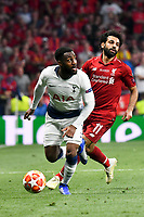 Football - 2019 UEFA Champions League Final - Liverpool vs. Tottenham Hotspur<br /> <br /> Danny Rose of Tottenham & Mohamed Salah of Liverpool, at Wanda Metropolitano, Madrid.<br /> <br /> COLORSPORT/WINSTON BYNORTH
