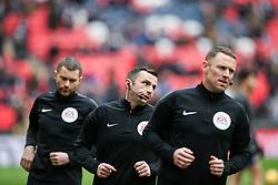 Referee Michael Oliver warms up - Mandatory by-line: Arron Gent/JMP - 10/02/2019 - FOOTBALL - Wembley Stadium - London, England - Tottenham Hotspur v Leicester City - Premier League