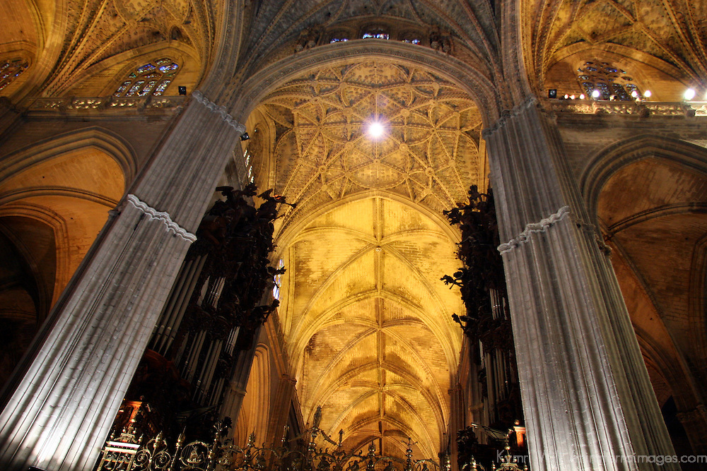 Europe, Spain, Seville. The Cathedral of Seville, Cathedral de Sevilla.