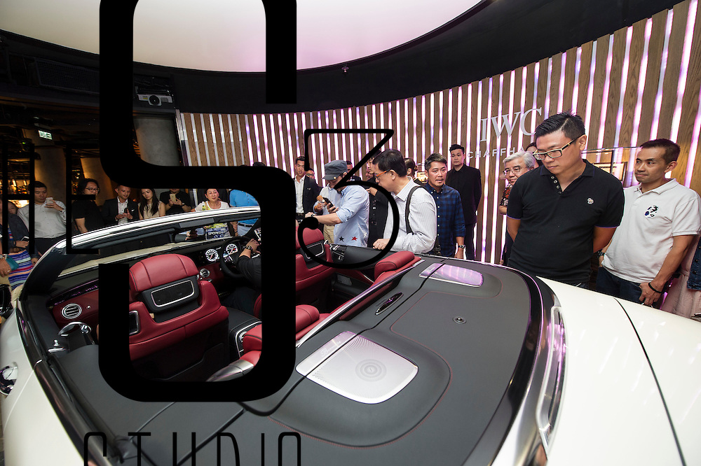 IWC and Mercedes unveil a Mercedes cabriolet during a joint event on 24 August 2016 in Entertainment Building, Hong Kong, China. Photo by Lucas Schifres / studioEAST