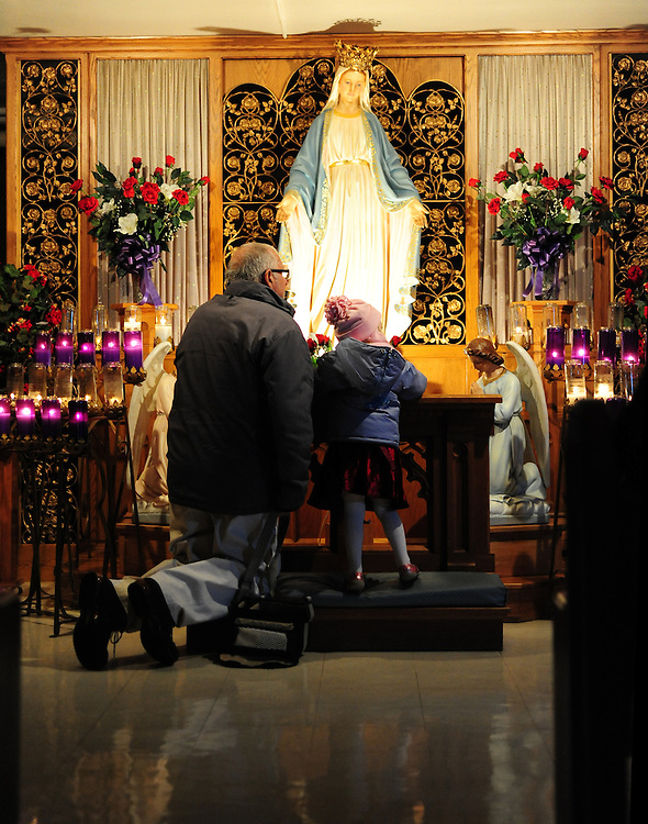 Scenes from the Chapel of Our Lady of Good Help in Champion, Wis. (Photos by Sam Lucero)