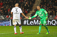 Alaeddine YAHIA / Remy VERCOUTRE  - 03.12.2014 - Guingamp / Caen - 16eme journee de Ligue 1 <br /> Photo : Vincent Michel / Icon Sport