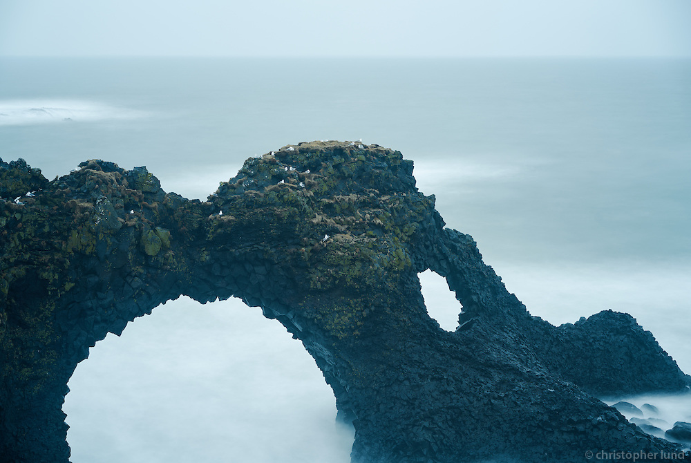 Gatklettur cliff at Arnarstapi, Snæfellsnes Peninsula, West Iceland.