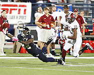 FIU Football Vs. Troy at the FIU Cage on October 25, 2011.  The game went into overtime in which FIU's Jack Griffin kicked the game winning field goal.