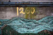 Numerals, Maritime, Cornwall, Newlyn, Rope, Sea, Waves,
