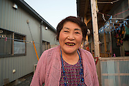 Tsuyako Taira, 80 years old are living at a  temporary housing complex in Ishinomaki, Japan.