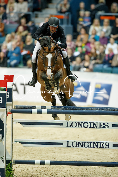 Talaat Mohamed, (EGY), Connaught<br /> Longines FEI World Cup Final 1 - Goteborg 2016<br /> © Hippo Foto - Dirk Caremans<br /> 25/03/16