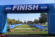 Nov 9, 2018; Sacramento, CA, USA; General overall view of the finish line during the NCAA West Regional at Haggin Oaks Golf Course.