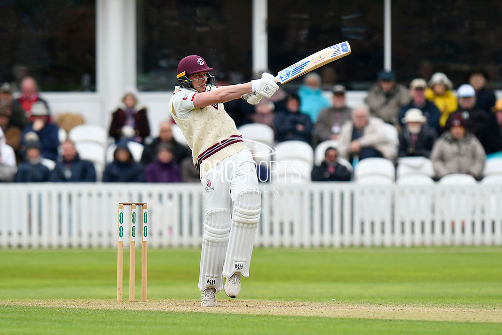 Josh Davey of Somerset batting during the third day of the Specsavers County Champ Div 1 match between Somerset County Cricket Club and Yorkshire County Cricket Club at the Cooper Associates County Ground, Taunton, United Kingdom on 29 April 2018. Picture by Graham Hunt.