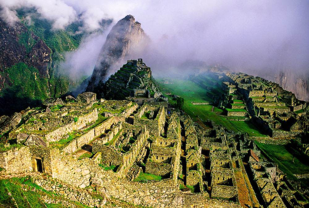 Inca Ruins, Machu Picchu archaeological site, Peru