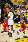 Golden State Warriors guard Nick Young (6) passes the ball against the Houston Rockets during Game 6 of the Western Conference Finals at Oracle Arena in Oakland, Calif., on May 26, 2018. (Stan Olszewski/Special to S.F. Examiner)