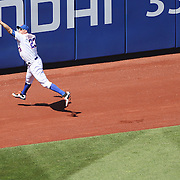 Michael Cuddyer, New York Mets, just fails to get to a fly ball during the New York Mets Vs Washington Nationals MLB regular season baseball game at Citi Field, Queens, New York. USA. 3rd May 2015. Photo Tim Clayton