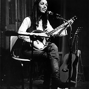 Singer Elaine Silver at a coffee house gig some time in the mid 70's