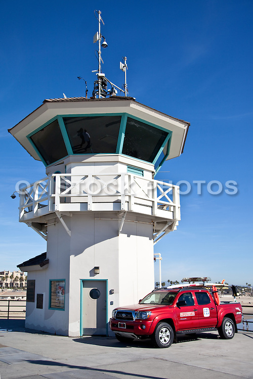 Huntington Beach Lifeguard Tower On The Pier