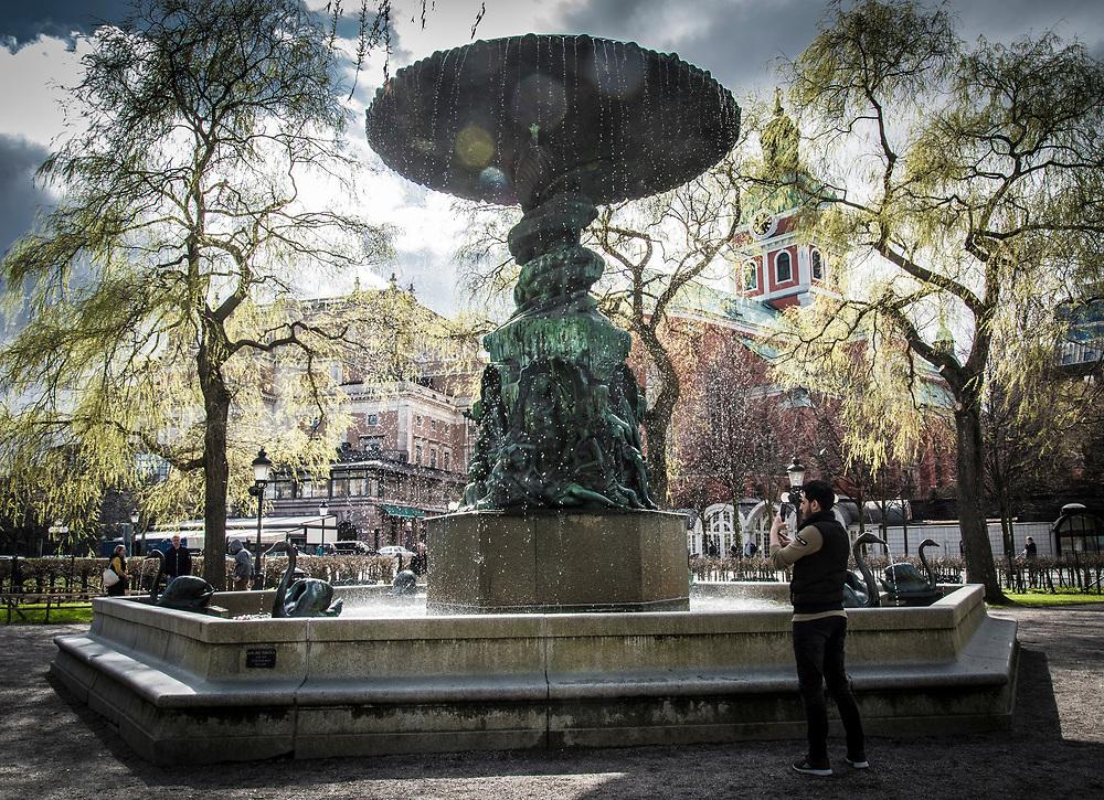Molins fontän i Kugsträdgården i Stockholm
