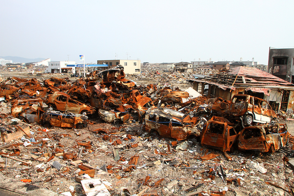 May 17, 2011; Ishinomaki, Miyagi Pref., Japan - Damage after the magnitude 9.0 Great East Japan Earthquake and Tsunami that devastated the Tohoku region of Japan on March 11, 2011.
