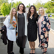 11.05. 2017.                                                 <br /> Over 20 leading Irish and international fashion media and influencers converged on Limerick for 24 hours on, Thursday, 11th May for a showcase of Limerick's fashion industry, culminating with Limerick School of Art & Design, LIT, presenting the LSAD 360° Fashion Show, sponsored by AIB.<br /> Pictured at the event were, Kate O'Doherty, Ardagh Co. Limerick, Louise Lawlor, Ballybunion, Co. Kerry, Niamh McMahon, Knockaderry Co. Limerick and Anna O'Doherty, Ardagh Co. Limerick. Picture: Alan Place