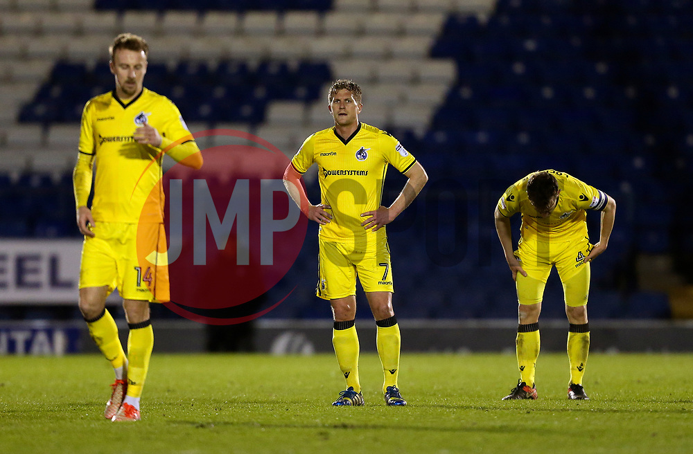 Bristol Rovers players look dejected after conceding the third goal - Mandatory by-line: Matt McNulty/JMP - 14/03/2017 - FOOTBALL - Gigg Lane - Bury, England - Bury v Bristol Rovers - Sky Bet League One