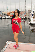 06/07/2012 Shahira Barry in Galway salutes the PUMA team at the Volvo Ocean Race. Photo:Andrew Downes