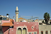 Israel, Nazareth The turret of the White Mosque El Abyad