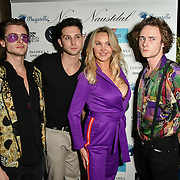 Jack McEvoy, Oliver smiles, Heather Bird tchenguiz  and Ben Luke Jones Arrivers at Nina Naustdal catwalk show SS19/20 collection by The London School of Beauty & Make-up at Bagatelle on 26 Feb 2019, London, UK.