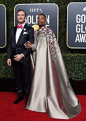 January 6, 2019 - Beverly Hills, California, United States of America - Golden Globe nominee Billy Porter (L) and Adam Smith attend the 76th Annual Golden Globe Awards at the Beverly Hilton in Beverly Hills, California on  Sunday, January 6, 2019. HFPA/POOL/PI (Credit Image: © Prensa Internacional via ZUMA Wire)