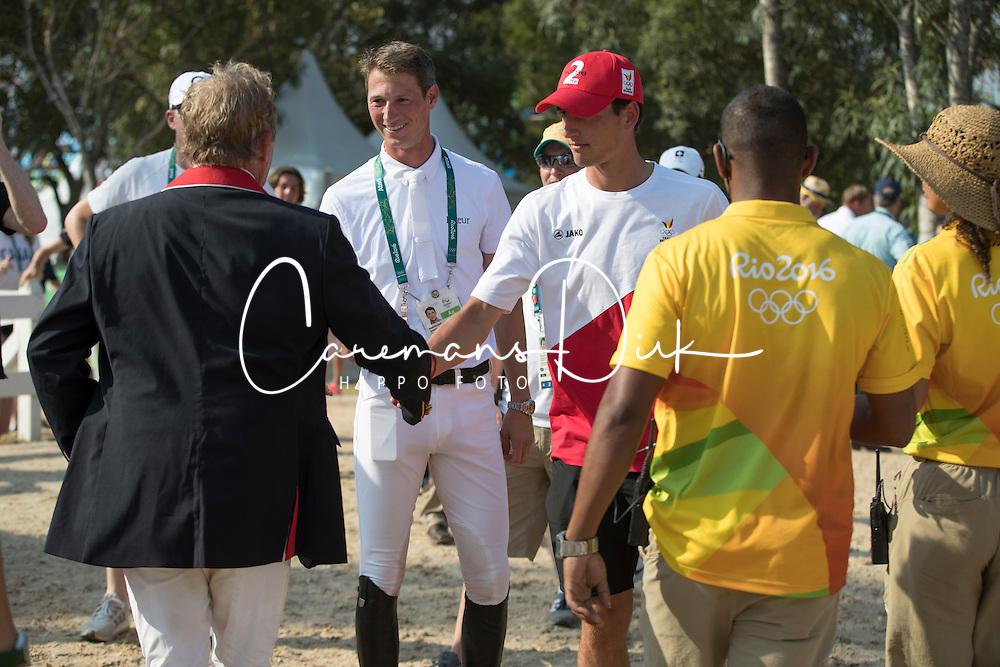Skelton Nick, GBR, Philippaerts Nicola, BEL, Deusser Daniel, GER<br /> Olympic Games Rio 2016<br /> © Hippo Foto - Dirk Caremans<br /> 19/08/16