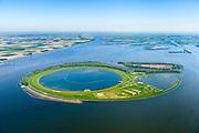 Nederland, Flevoland-Overijssel, Ketelmeer, 07-05-2018; IJsseloog, gezien naar Noordosotpolder. Slibdepot voor de verontreinigde slib uit het Ketelmeer zoals aangevoerd door de IJssel. Het saneren van het Ketelmeer is noodzakelijk om plannen op het gebied van recreatie en natuur mogelijk te maken. IJsseloog, depot for the contaminated sludge from the sludge Ketelmeer as alleged by the IJssel. The rehabilitation of the Ketelmeer is necessary to allow for planning of future nature and recreational development. <br /> luchtfoto (toeslag op standard tarieven);<br /> aerial photo (additional fee required);<br /> copyright foto/photo Siebe Swart