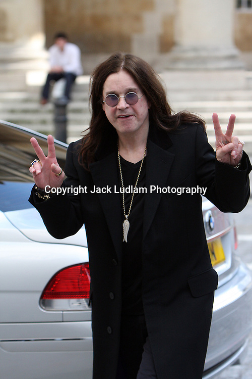 Ozzy Osbourne Pictured Mayfair London