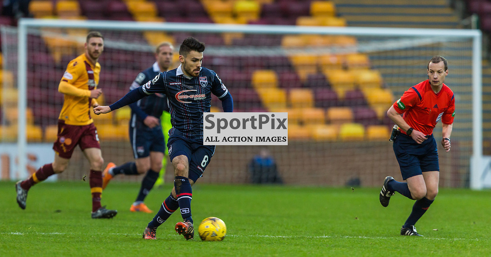 Ian McShane in action during the match between Motherwell and Ross County (c) ROSS EAGLESHAM | Sportpix.co.uk