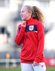 Katie Robinson of Bristol City warms up prior to kick-off - Mandatory by-line: Nizaam Jones/JMP - 27/01/2019 - FOOTBALL - Stoke Gifford Stadium - Bristol, England - Bristol City Women v Yeovil Town Ladies- FA Women's Super League 1