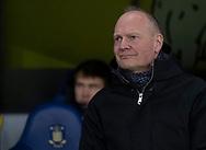 Cheftræner Niels Frederiksen (Brøndby IF) under kampen i 3F Superligaen mellem Brøndby IF og Hobro IK den 15. december 2019 på Brøndby Stadion (Foto: Claus Birch).