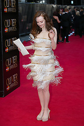 The Laurence Olivier Awards - Red Carpet Arrivals. Olivia Grant attends The Laurence Olivier Awards at the Royal Opera House, London, United Kingdom. Sunday, 13th April 2014. Picture by Daniel Leal-Olivas / i-Images