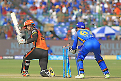 April 29, 2018 - Jaipur, Rajasthan, India - Sunrisers  Hyderabad batsman Alex Hales plays a shot during the IPL T20 match against Rajasthan Royals at Sawai Mansingh Stadium in Jaipur on 29th April,2018. (Credit Image: © Vishal Bhatnagar/NurPhoto via ZUMA Press)