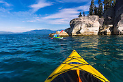 Kayaking on Lake Tahoe, DL Bliss State Park, California USA