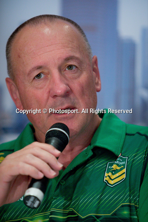 Australian coach Tim Sheens during a preview 4 Nations press conference, Brisbane Australia on October 24, 2014.