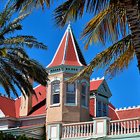Southernmost House in Key West, Florida <br /> This gorgeous Queen Anne Victorian mansion at the end of Duval Street was built in 1897 as the residence for Judge Harris and his wife. Thomas Edison designed the home's electricity.  It has also been a speakeasy and a nightclub. Today, the Southernmost House is an inn and museum on the waterfront.  It has hosted five presidents and countless famous people. The hotel's name is derived from being the most southern house in the Continental United States.