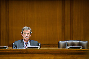 Annapolis, Maryland - January 11, 2018: Maryland Attorney General Brian Frosh resides over the Maryland Hearing on the Repeal of the Clean Power Plan at the Joint Hearing Room in the Legislative Services Building in Annapolis, Md., Thursday, Jan. 11, 2018. <br /> CREDIT: Matt Roth