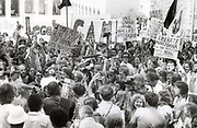Hundreds of mostly young supporters of marijuana legalization demonstrate in Atlanta, Georgia in April 1978. There were 15 arrests. Many protest the US DEA s use of the chemical Paraquat on the Mexican fields producing marijuana.