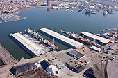 Aerial Photography of North Locust Point at the Port of Baltimore