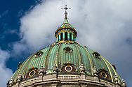 A picture of the dome atop Frederiks Kirke in Copenhagen.