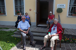 Elderly spectators wait for the race to go past their care home during Stage 2 of the Giro Rosa - a 122.2 km road race, between Zoppola and Montereale Valcellina on July 1, 2017, in Pordenone, Italy. (Photo by Balint Hamvas/Velofocus.com)