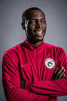 Portrait of Nigerian soccer player Anthony Ujah of Liaoning Whowin F.C. for the 2017 Chinese Football Association Super League, in Foshan city, south China's Guangdong province, 24 January 2017.