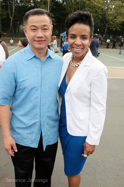 2 September 2013- Brooklyn, NY: (L-R) New York City Comptroller and NYC Mayoral Candidate John Liiu and New York City Council Candidate Laurie Cumbo attends the 46th Annual West Indian Day Parade held along Eastern Parkway held on September 2, 2013 in Brooklyn, NY  ©Terrence Jennings