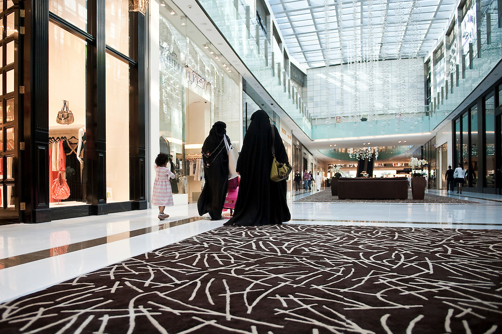 Women at Dubai Mall,Dubai, UAE on February 10,2010