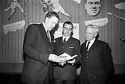 17/05/1966<br /> 05/17/1966<br /> 17 May 1966<br /> Book reception for &quot;Decades of Glory: A Comprehensive History of the National Game&quot; by Raymond Smith.<br /> This reception was held in the offices of W.D. &amp; H.O. Wills to honour the well known author and journalist, Raymond Smith. His book on the history of Hurling (&quot;Decades of Glory&quot;) has just been published with the assistance of Wills of Dublin and Cork and the Central Council of the G.A.A.