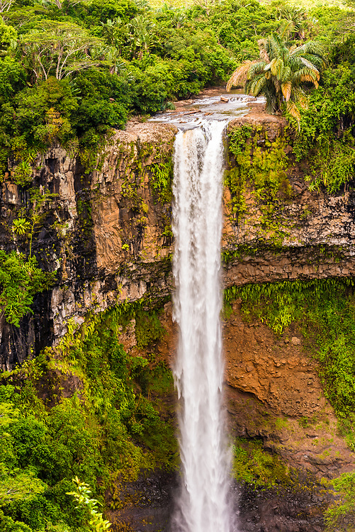 The 272 foot Chamarel Waterfall on the island of Mauritius