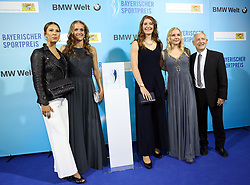 13.07.2019, BMW Welt, Muenchen, GER, Bayerischer Sportpreis Verleihung, im Bild Die Bayerischen Nachwuchs Basketball Spielerinnen // during the Bavarian Sports Award at the BMW Welt in Muenchen, Germany on 2019/07/13. EXPA Pictures © 2019, PhotoCredit: EXPA/ SM<br /> <br /> *****ATTENTION - OUT of GER*****