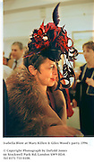 Isabella Blow at Mary Killen & Giles Wood's party. 1996<br />